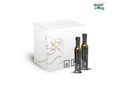 Al Ard Palestine Organic Extra Virgin Olive Oil 250ml 1 Box (12 bottles)