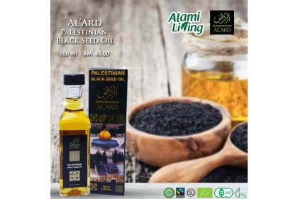 Al Ard Palestinian Habatus Sawda / Black Seed Oil 100ml x 6 botol